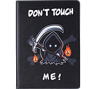 With Stand Flip  Skull Pattern Case Full Body Case Hard PU Leather for iPad 234