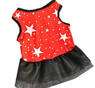 Cute Summer Red Dress Cake Dress  Beautiful Clothing for Pet Dog