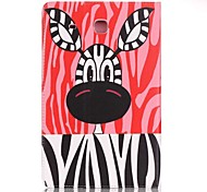 Full Body Card Holder / Wallet Zebra PU Leather Hard Case Cover For Samsung Galaxy Tab A 7.0