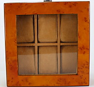 Medium Fiber Board 6 Watch Box The Window Wooden Jewelry Watches Display Box Gift Boxes