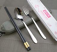 Acier inoxydable 304 Fourchette de table / baguettes Cuillères / Fourchettes / Chopsticks 3 Pièces