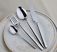 Acero Inoxidable 304 Tenedor / Cuchillo Cucharas / Tenedores / Cuchillos / Cucharitas de azúcar 4 piezas