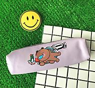 Cartoon Animal Cylinder Pen Bag