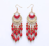 Europe And The United States Crescent Bohemia Tassels Eardrop Hot Water Droplets Eardrop Fashion