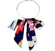 New Fashion Ribbon Bowtie Shape Pendant Collar Necklace