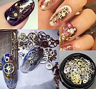 120pcs Nail Art Decoración Las perlas de diamantes de imitación maquillaje cosmético Nail Art