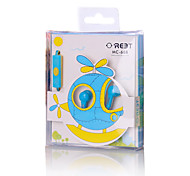Lovely cute MC-66 3.5mm Jack Metal Earphone High Quality Metallic Earbud For Cellphone MP3 MP4 Player