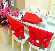 1шт рождественские украшения Нетканые Снежинка крышка стула 50 * 65см Снежинка стул комплект рождества вещи