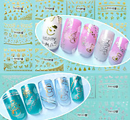 12 Nail Art Sticker  3D Nail Stickers Makeup Cosmetic Nail Art Design