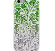 Para Funda iPhone 7 / Funda iPhone 6 / Funda iPhone 5 Transparente / En Relieve / Diseños Funda Cubierta Trasera Funda Flor Suave TPU