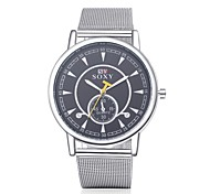 Unisex Dress Watch / Fashion Watch Quartz Water Resistant/Water Proof Alloy Band Casual Silver Brand