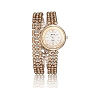 Women's Fashion Watch / Bracelet Watch Quartz Water Resistant/Water Proof Alloy Band Charm / Casual Gold Brand