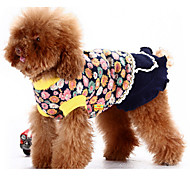 Dog Dress Blue / Pink Dog Clothes Winter / Spring/Fall Flower Classic / Casual/Daily / Keep Warm