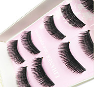 Eyelashes Full Strip Lashes Thick Handmade Fiber Black Band 0.10mm 12mm