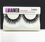 Full Strip Lashes Eyes Thick Handmade mink hair eyelash Black Band 0.10mm 12mm LD207