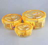 3 in 1 Set Waterproof Plastic Storage Containers with Clip Lids