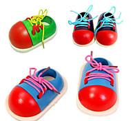 Small Shoes Kindergarten Children Learn To Wear Line