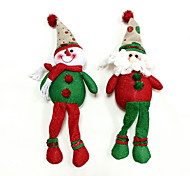 ornamento do Natal do boneco de neve&2pcs Papai Noel