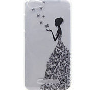 Little Girl Pattern High Permeability TPU Material Phone Shell For Wiko Lenny 2 Lenny 3 Pulp Fab 4G