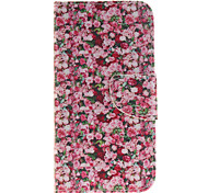 Flower Pattern PU Leather Full Body Case with Card Slot for Samsung Galaxy J3 J3 (2016)