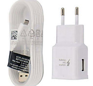 Fast Charge / Charger Kit Home Charger EU Plug / US Plug 1 USB Port with Cable For Cellphone(5V , 2A)