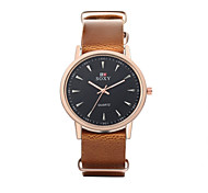 Men's Dress Watch Wrist watch Water Resistant / Water Proof Quartz Leather Band Casual Black Brown