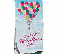 For iPhone 7 Case / iPhone 6 Case / iPhone 5 Case Card Holder / with Stand / Flip / Pattern Case Full Body Case Balloon Hard PU Leather