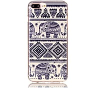 Auspicious Elephant Pattern HD Painted TPU Material Phone Shell For iPhone 7 7 Plus 6s 6 Plus