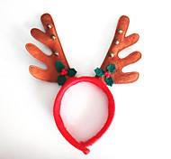 2pcs рождественские колокола листья коричневой ткани рога рогами голову обруч пряжки модель мультфильм животных