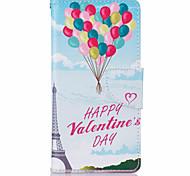 padrão de couro balão pu caso de telefone de couro material de couro para Huawei P9 P9 Lite y5ii y6ii 5a