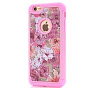 Para Funda iPhone 7 / Funda iPhone 7 Plus / Funda iPhone 6 Diseños Funda Cubierta Trasera Funda Flor Dura Policarbonato AppleiPhone 7