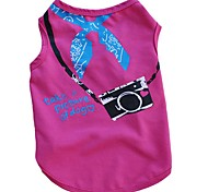 Dog Clothes Apparel Dog Vest Camera Clothing Summer Breathable Cozy Pet Clothes for Dogs T-Shirt