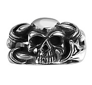 Men's Ring Jewelry Fashion Personalized Steel Skull / Skeleton Jewelry For Wedding Party Halloween Daily