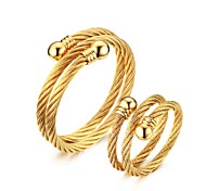 Men's Jewelry Set Jewelry Casual/Halloween/Daily/Party Fashion Stainless Steel Gold Plated Golden 1 Set Gift