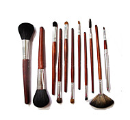11 Makeup Brushes Set Mink Hair Portable Wood Face G.R.C / Send Package