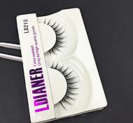 Full Strip Lashes Eyes Thick Handmade mink hair eyelash Black Band 0.10mm 12mm LD210