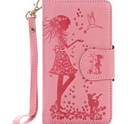 For Samsung Galaxy J7 J510 J5 J310 J3 PU Leather Material Woman and Cat Pattern Embossed 9 Cassette With Mirror Phone Case