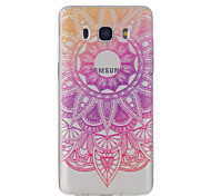 For Samsung Galaxy J7 J5 J3 J1 (2016) Lace Flowers Pattern High Permeability TPU Material Phone Case
