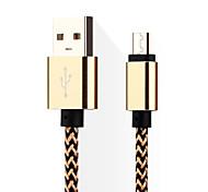 Weaving Micro USB Data Line for Samsung/HTC/Huawei/SONY/Millet/ Nokia/ Motorola/LG/Lenovo(1M)