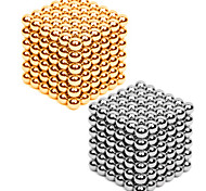 Magneti giocattolo 432 Pezzi 3MM Magnetic Balls 216PCS *2,Golden&Silver 2 Color Mixed in 1 Box,Diameter 3 MMAllevia lo stress Kit