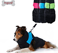 Dog Coat / Vest Green / Blue / Pink Dog Clothes Winter Color Block Keep Warm