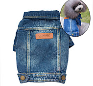 Dog Denim Jacket/Jeans Jacket Blue Dog Clothes Spring/Fall Jeans Fashion / Cowboy