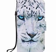 Для samsung galaxy j7 j5 (2016) чехол для корпуса белый леопард картина pu phone case j5 j3 g360 g530
