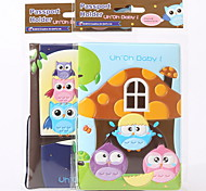 PVC cartoon stereo embossed Travel Passport Holder & ID Holder Waterproof / Dust Proof / Portable Travel Storage PU Leather