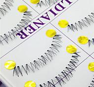 Eyelashes lash Full Strip Lashes Eyes Crisscross Handmade Fiber Transparent Band 0.10mm 12mm