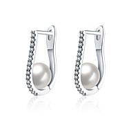 lureme Fine Jewelry 18K Gold Fashion Charms Pearl Zircon Diamond Earrings