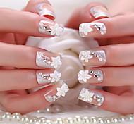 una scatola di 24 pezzi di finito manicure manicure sposa sposa chiodo gomma paragrafo
