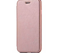 For iPhone 7 Case / iPhone 6 Case / iPhone 5 Case Card Holder / Flip Case Full Body Case Solid Color Hard PU Leather AppleiPhone 7 Plus /