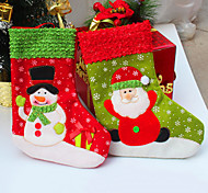 2Pcs/lot Santa Christmas Stocking for Party Decoration Socking Gift Christmas Socks for Christmas Gift&Decoration