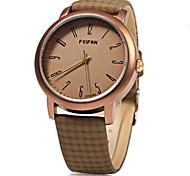 Unissex Relógio de Moda Quartz / Digital Colorido Couro Banda Casual Preta / Laranja / Marrom / Cáqui marca